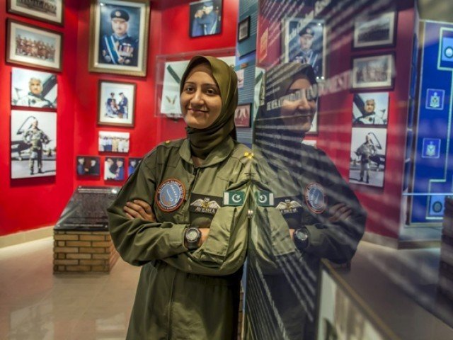 Ayesha Farooq, 26, Pakistan's only female war-ready fighter pilot, smiles during an interview with Reuters at Mushaf base in Sargodha on June 6, 2013. PHOTO: REUTERS