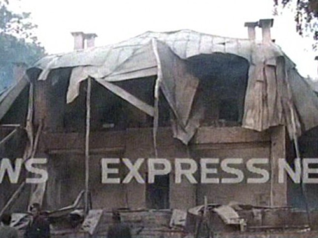 Following the attack, the structure was destroyed.
