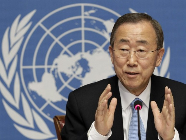UN Secretry General Ban Ki-moon said no cause justifies such violence. PHOTO: REUTERS/FILE