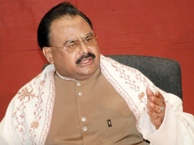 """The Muslim Population is being delusioned by its leaders just as it has been delusioned before,"": Altaf. PHOTO: FILE"