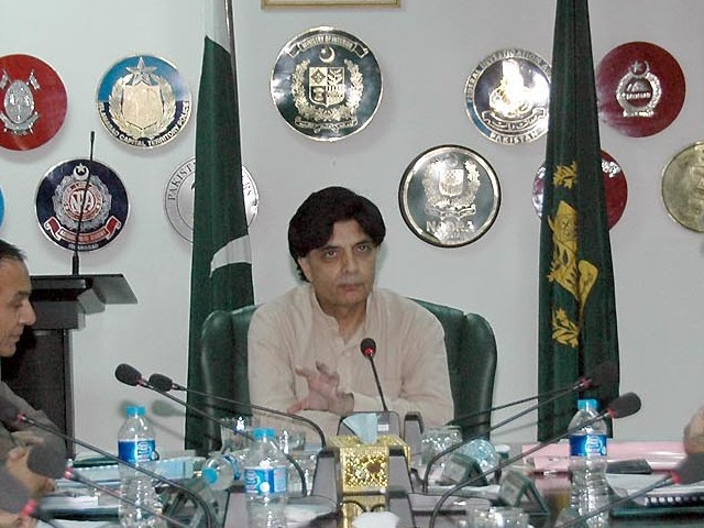 Chaudhry Nisar Ali Khan. PHOTO: INP/FILE
