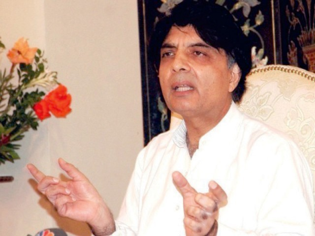 Interior Minister Chaudhry Nisar Ali Khan. PHOTO: FILE