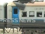 A screengrab shows the damaged cabin. SCREENGRAB: EXPRESS NEWS