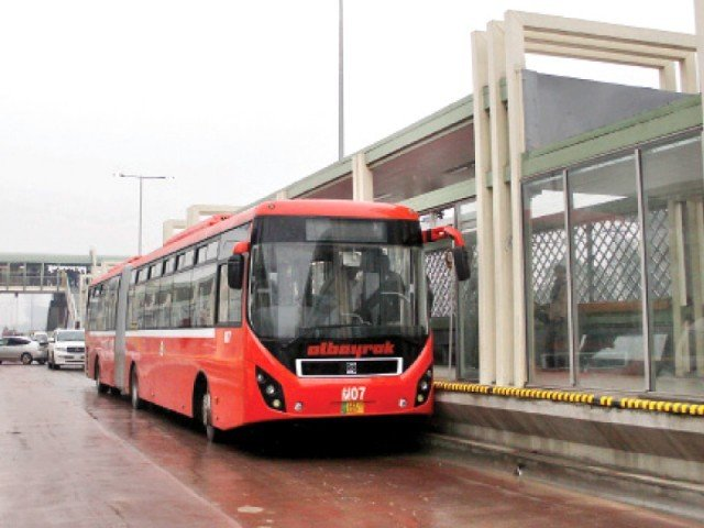 """The expansion of the Metro Bus Service in Lahore appears for now to be a low priority for the provincial govt,"" Metro Bus Authority officials. PHOTO: FILE"