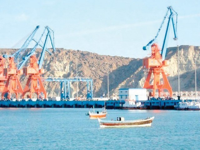 Gwadar port stretches across a larger economic corridor from Balochistan, to China, linking it to the Arabian Sea. PHOTO: FILE