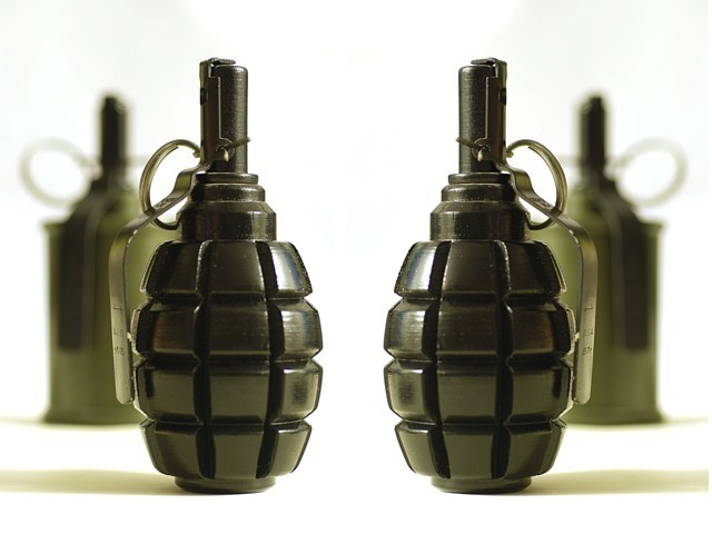 Seven grenades were found in possession of the militants.  PHOTO: CREATIVE COMMONS