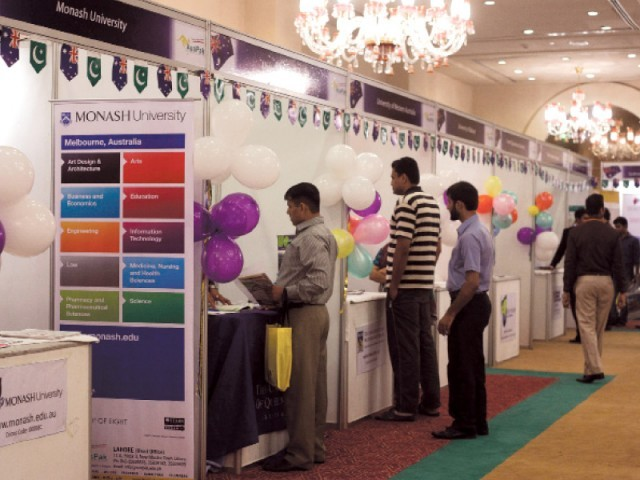 Information on courses and scholarships offered, required language tests, visa processing procedures and career counselling was provided by the universities present at the expo. PHOTO: MYRA IQBAL/EXPRESS
