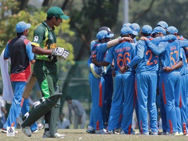 India U23 outclassed their  counterparts in both batting  and bowling after Pakistan  U23 chose to bat first. PHOTO: facebook.com/pages/Asian-Cricket-Council