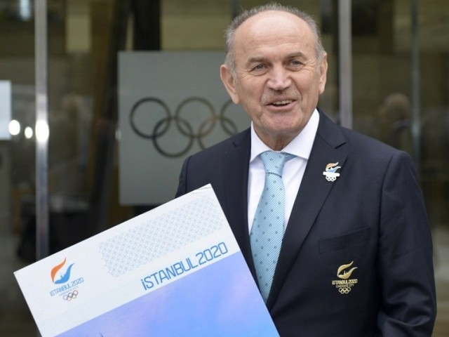 A picture taken on January 7, 2013 show Kadir Topbas, of Istanbul, posing at the headquarters of the International Olympic Committee. PHOTO: AFP