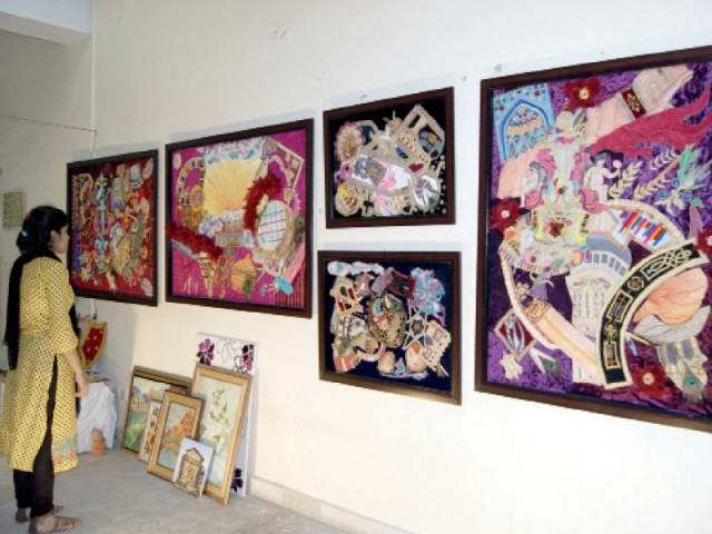 More than 70 masters and bachelors students took displayed their works. PHOTO: EXPRESS