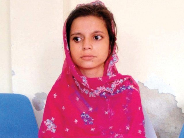 Nadia, 11, was bartered her off in 'marriage' to a boy almost twice her age in Sukkur in 2011. The Sindh government is gearing up to reform the Child Marriages Law by imposing heftier fines and stricter punishment on offenders. PHOTO: FILE