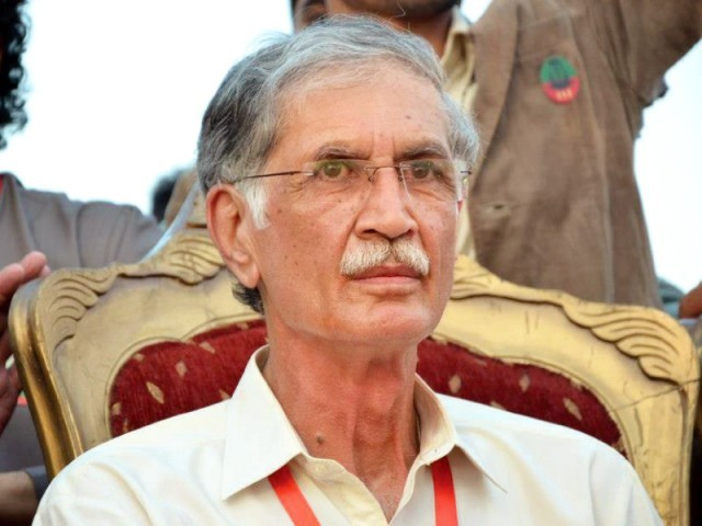 K-P Chief Minister Pervez Khattak. PHOTO: FILE