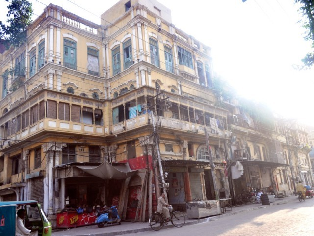 One of the many buildings in Lahore's red light district. PHOTO: FARAHNAZ ZAHIDI/EXPRESS