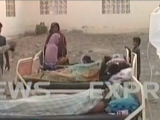 Screengrab of some of the victims of the quake undergoing treatment.