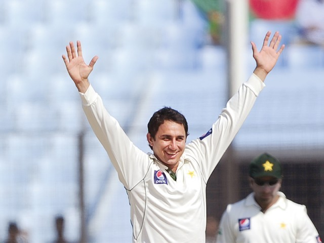 Saeed Ajmal aims to avenge the 3-0 whitewash Pakistan suffered in the Test series against South Africa earlier this year. PHOTO: AFP