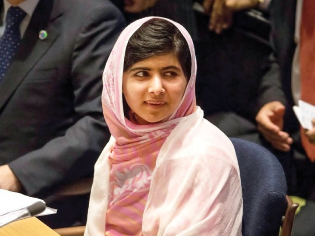 Malala Yousufzai at the UN General Assembly. PHOTO: AFP