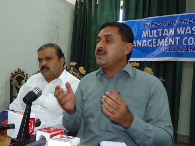 Jamshed Dasti speaks at a press conference in Multan. PHOTO: ONLINE