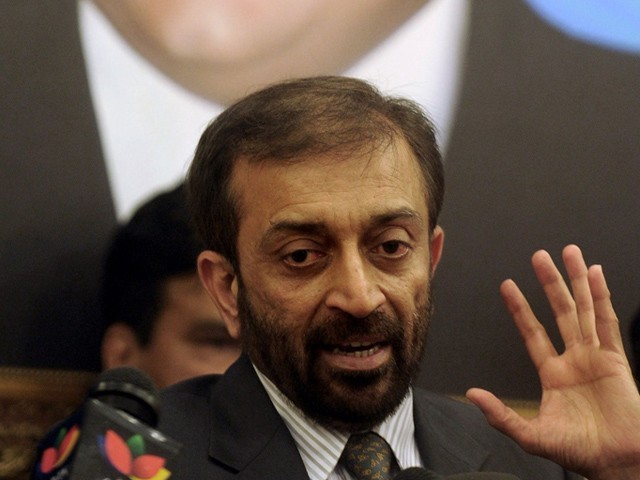 Flle photo of Farooq Sattar. PHOTO: AFP/FILE
