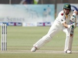Misbahul Haq hit the winning runs with a supreme six straight down the ground. PHOTO: AFP/FILE