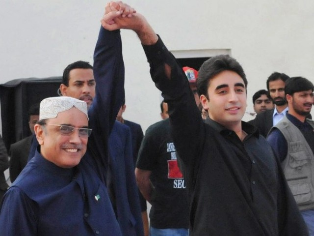 Asif Ali Zardari and Bilawal Bhutto. PHOTO: PID/FILE