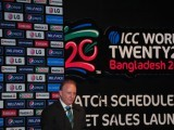 The International Cricket Council (ICC) General Manager Commercial, Campbell Jamieson, speaks during the ICC World Twenty20 Bangladesh 2014 match schedule and ticket sales launch ceremony in Dhaka on October 27, 2013. PHOTO: AFP