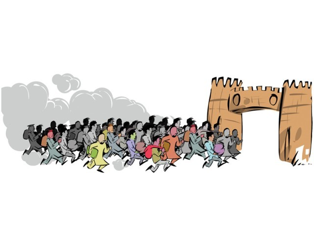 Huge influx of migrants from FATA leading to several socio-economic problems. ILLUSTRATION: JAMAL KHURSHEED