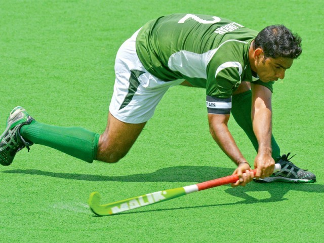 Greens­hirts on course for a place in hockey final. PHOTO: FILE AFP