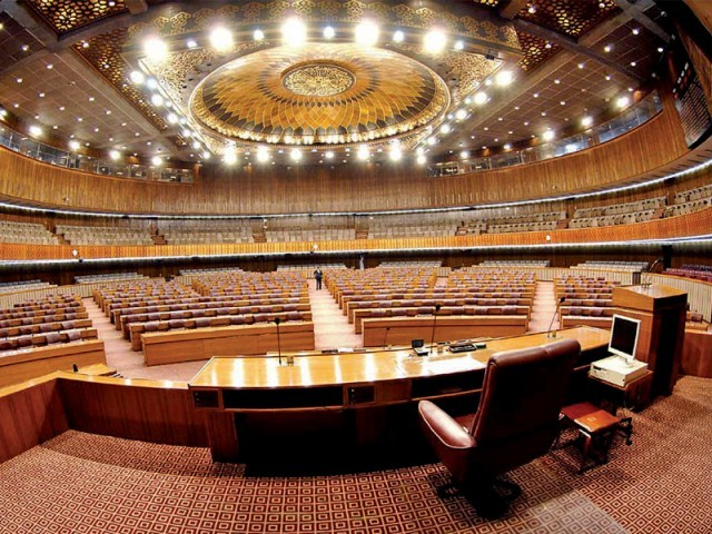 Unanimous in its outrage over the latest US drone strike a day earlier, the National Assembly on Tuesday appeared to be divided over how Pakistan should now react. PHOTO: FILE
