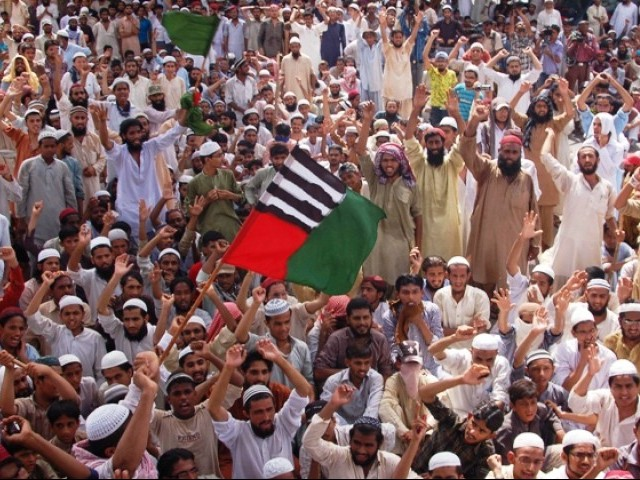 File photo of an ASWJ protest. PHOTO: EXPRESS/FILE