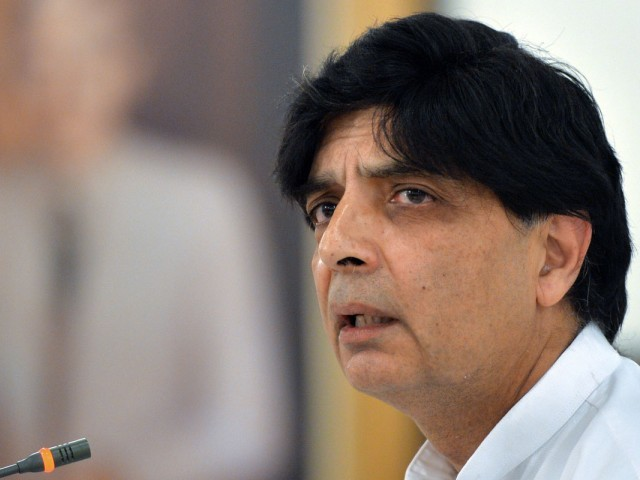 Interior Minister Chaudhry Nisar. PHOTO: AFP/FILE