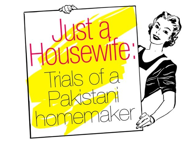 Ms T looks into the routine of the average Pakistani housewife and why she might be scorned for being one.