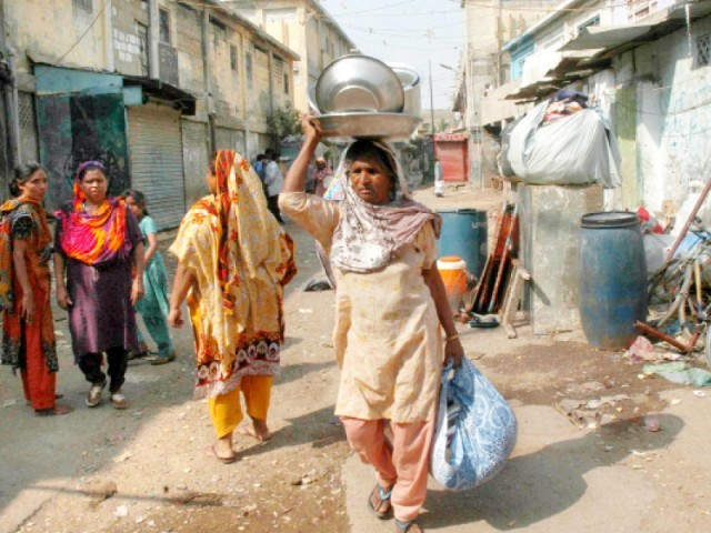 Members of other minority communities, apart from Christians, have also moved out of Lyari. PHOTO: FILE