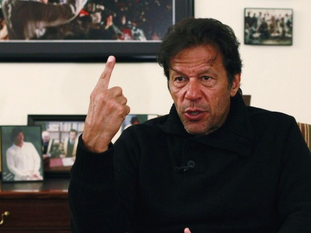 Pakistan Tehreek-e-Insaf chairman Imran Khan. PHOTO: REUTERS