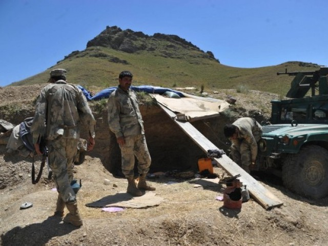 File photo of Afghan border police. PHOTO: AFP/FILE