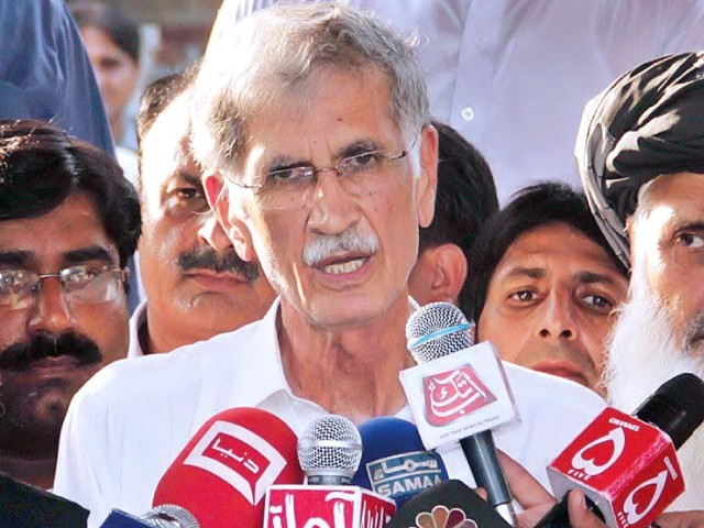 K-P Chief Minister Pervaiz Khattak. PHOTO: APP/FILE