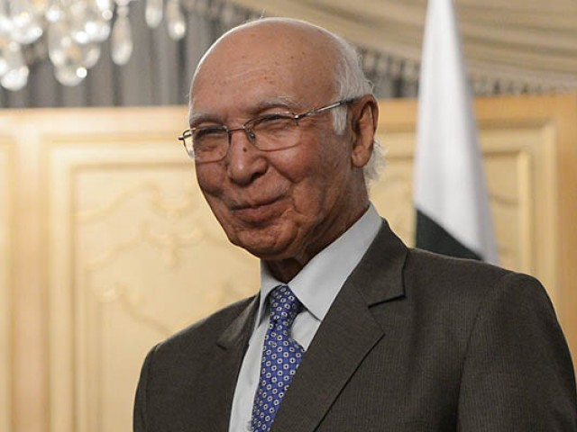 Sartaj Aziz quoted Obama as saying that America does not want 70 percent of Pakistanis to hate it. PHOTO: AFP