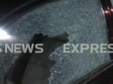 Screengrab from Express News of attack outside the office.