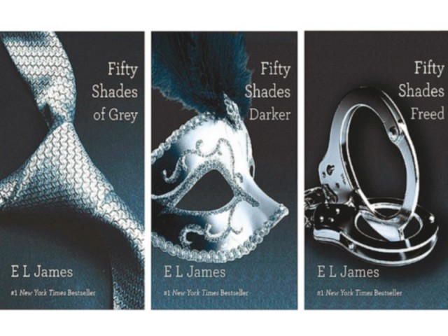 E L James' trilogy has sold over 90 million copies and is being adapted into a feature film. PHOTO: FILE
