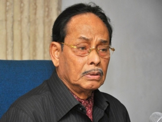 Bangladesh's former military dictator Hussain Muhammad Ershad was led away from his home by security forces on Friday. PHOTO: AFP