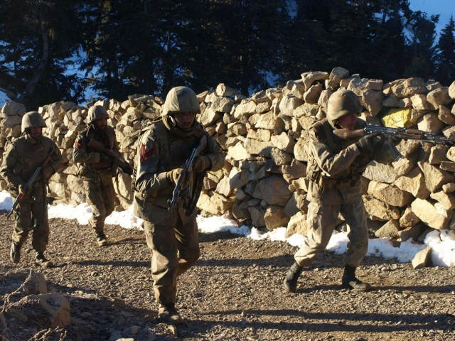 Security forces raided the hideouts of militants in Mir Ali in the North Wazirstan Agency on a tip off that the militants were busy preparing vehicle borne improvised explosive devices. PHOTO: AFP/FILE