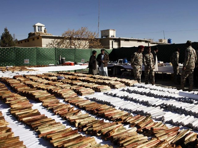 1,650 anti-tank mines, 480 hand grenades and 2524 kilograms of explosive material was recovered. PHOTO: ONLINE