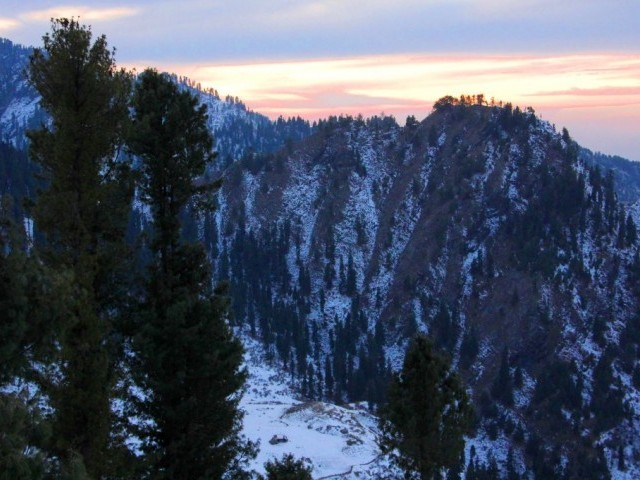 Sunrise at Malam Jabba. PHOTO: FAZAL KHALIQ