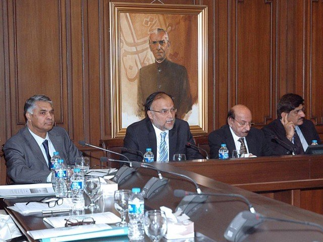 Ahsan Iqbal addressing Provincial Consultative Workshop on Vision for 2025. PHOTO: PID