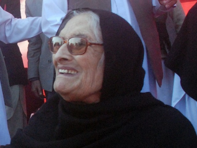 File photo of Begum Nasim Wali. PHOTO: SAMEER RAZZAQ