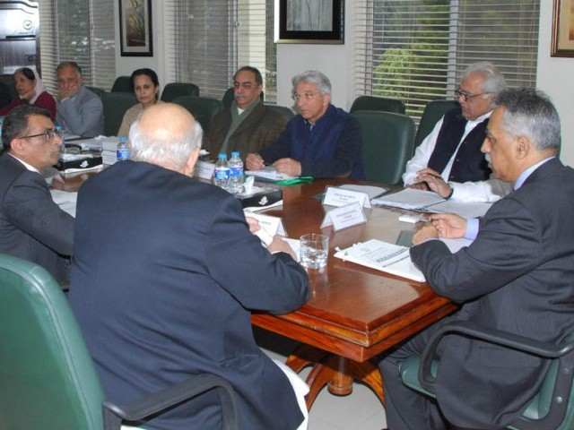 Chairman Mohammad Zubair Umar chairing the first meeting on Thursday, Jan 8. PHOTO: PID