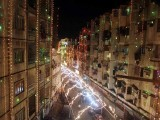 The Kharadar area in Karachi filled with lights during the celebrations. PHOTO: ONLINE