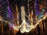 A Liaquatabad street in Karachi decorated with lights ahead of Eid Miladun Nabi (pbuh). PHOTO: ONLINE