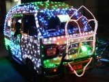 A vehicle decorated with LED lights in Soldier Bazaar, Karachi ahead of Eid Miladun Nabi (pbuh). There has been an increasing trend in recent years of decorating vehicles on Eid Miladun Nabi (pbuh). PHOTO: ONLINE