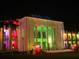 The Punjab Provincial Assembly building joins in the Eid Miladun Nabi (pbuh) celebrations as decorative lights cover it up. PHOTO: ONLINE