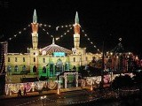 A grand view of the Jamia Mosque in Rawalpindi on the eve of Eid Miladun Nabi (pbuh). PHOTO: ONLINE